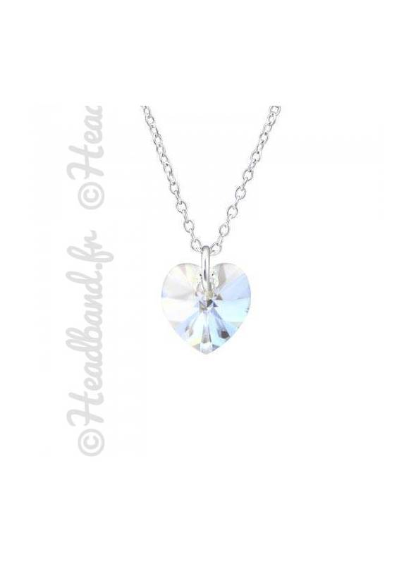 Collier cristal coeur Swarovski® moonlight