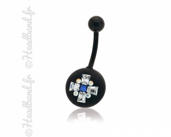 Piercing nombril motif géométriques cristaux Swarovski