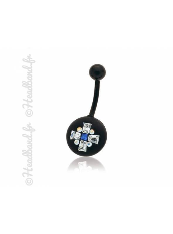Piercing nombril motif géométriques cristaux Swarovski®