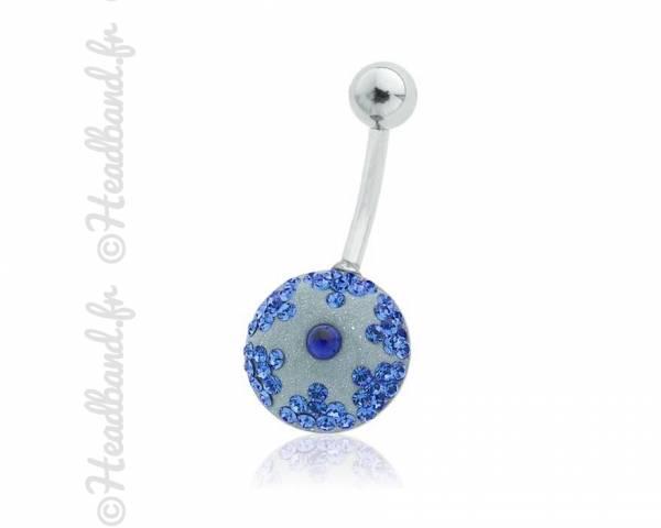 Piercing nombril étoile pavé de cristaux Swarovski