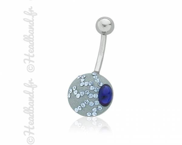 Piercing nombril romantique cristaux Swarovski