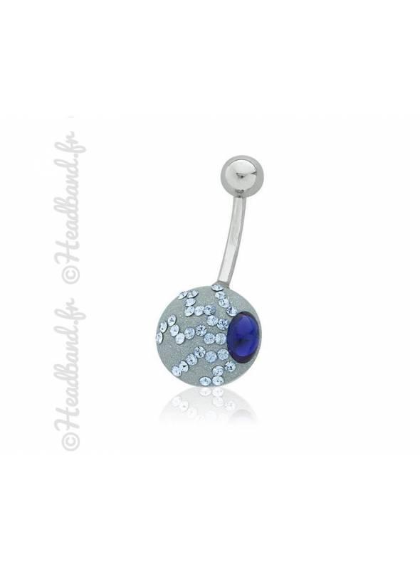 Piercing nombril romantique cristaux Swarovski®