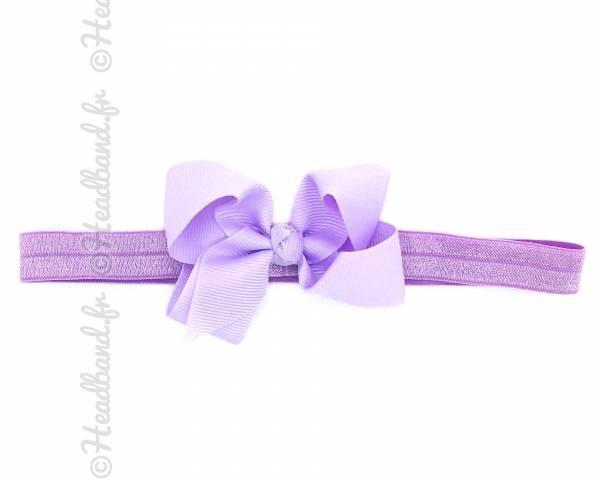 Bandeau double noeud violet