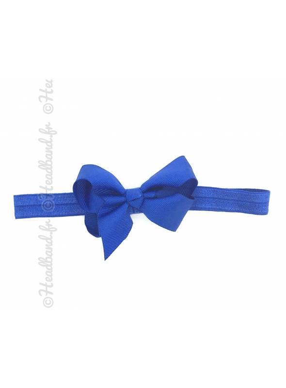 Bandeau double noeud bleu