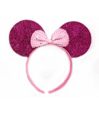Serre-tête oreilles Minnie enfant à noeud