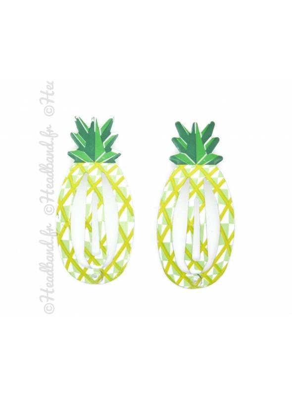 Pince clic-clac métal fruit ananas