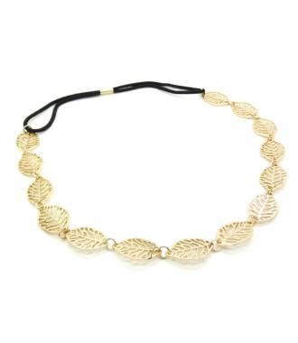 Headband bijou feuilles et strass