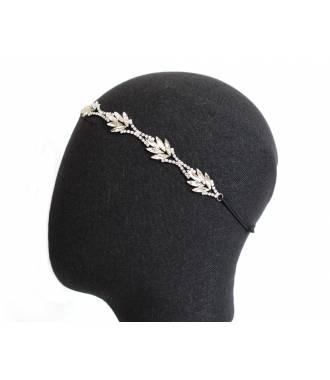 Bijou de tête mariée cristaux Emilie