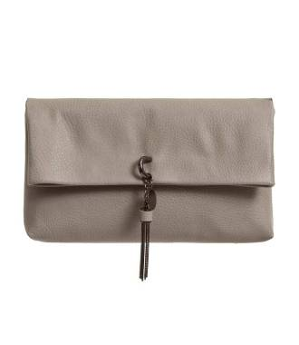Petit sac gris avec pompon chaîne
