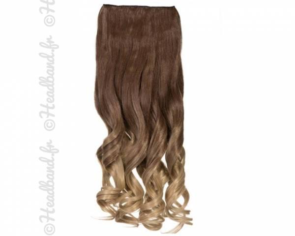 Extension ondulée ombré-hair châtain à blond