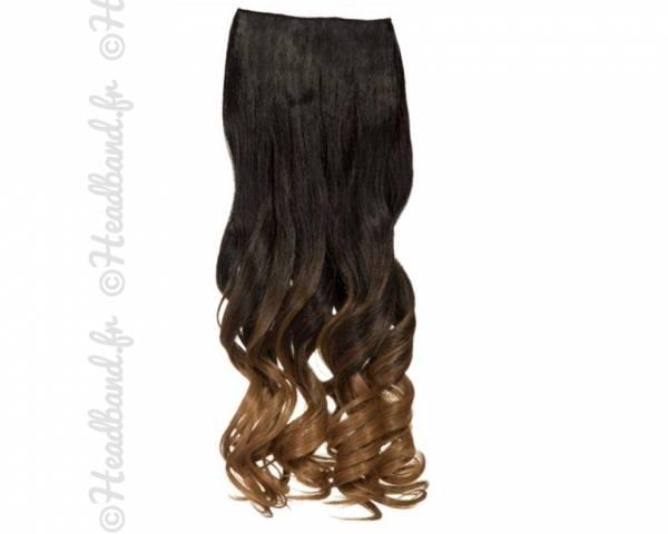 Extension ondulée ombré-hair châtain foncé à doré
