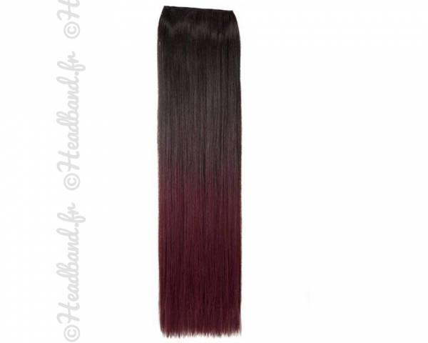Monobande raide ombré-hair noir à prune