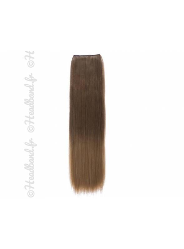 Monobande raide ombré-hair châtain clair à blond