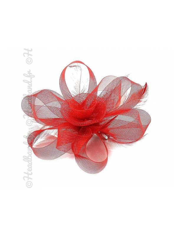 Bibi ruban à clip rouge