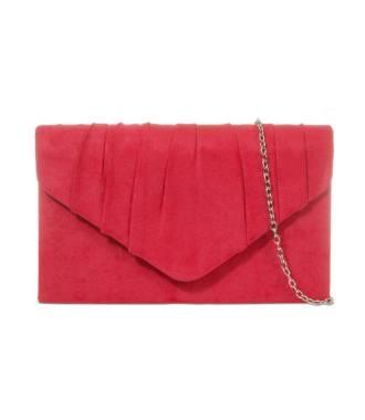 Pochette faux daim rouge
