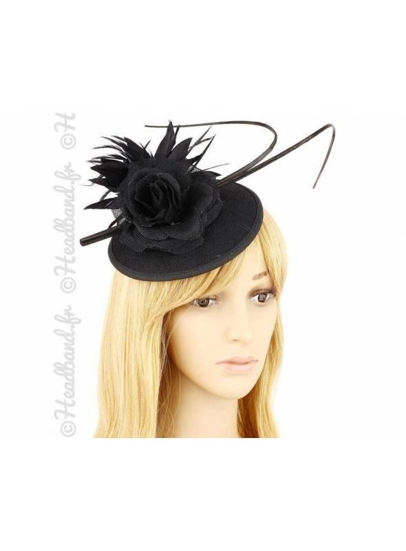 Chapeau cérémonie habillé noir