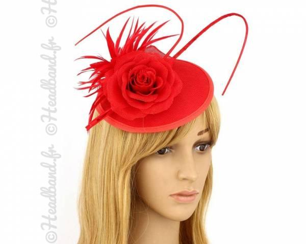 Chapeau cérémonie habillé rouge