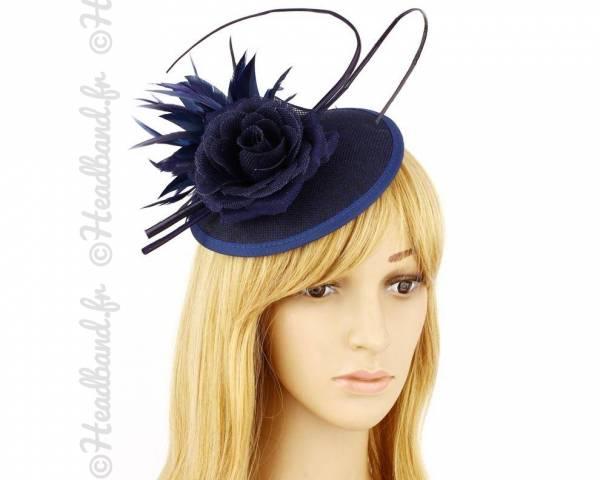 Chapeau cérémonie habillé bleu marine