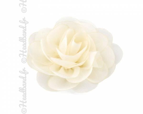 Pince fleur mousseline crème