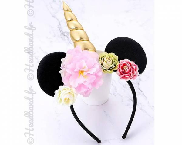 Serre-tête licorne et oreilles Minnie