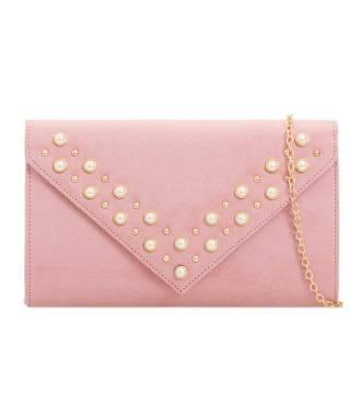 Pochette enveloppe rose avec stud perles nacrées