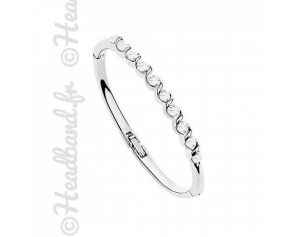 Bracelet élégant cristaux blanc