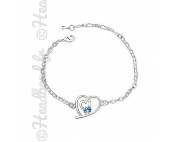 Bracelet love cristal aquamarine