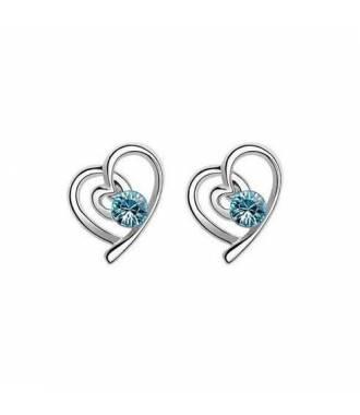Boucles d'oreilles St Valentin bleu
