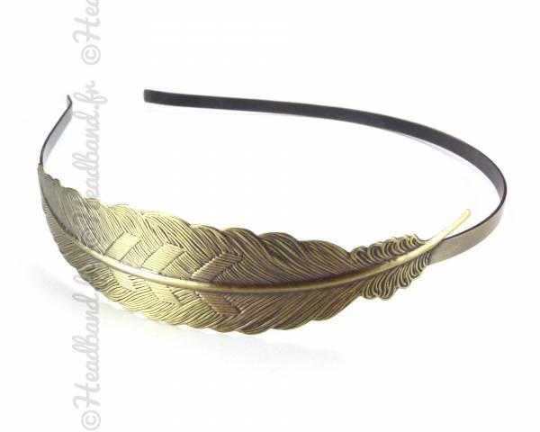 Serre-tête antique plume