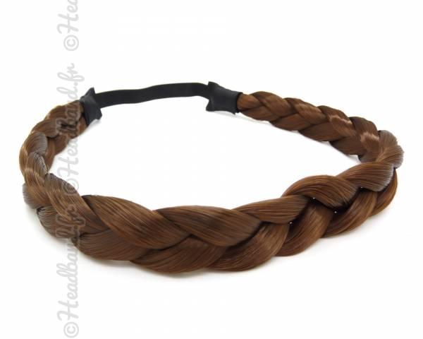 Headband tresse châtain moyen