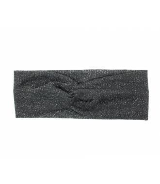 Bandeau élastique lurex noir