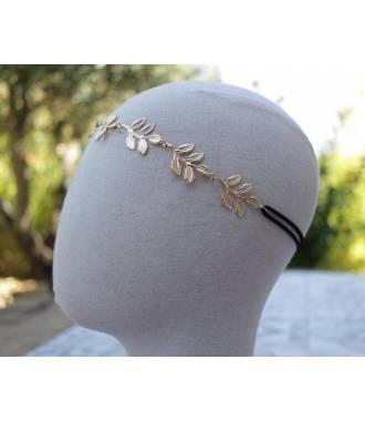 Headband feuilles déesse doré