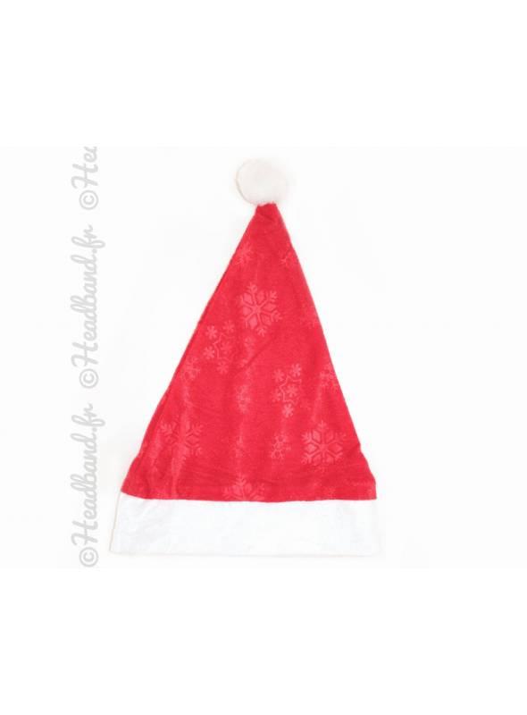 Bonnet de Noël rouge avec motifs flocons