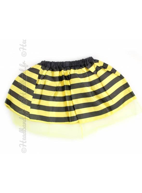 Tutu jaune rayé noir abeille