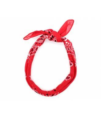 Bandeau motif bandana rouge