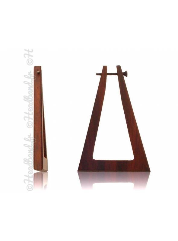 Boucles d'oreilles fermoir tige bois forme triangle