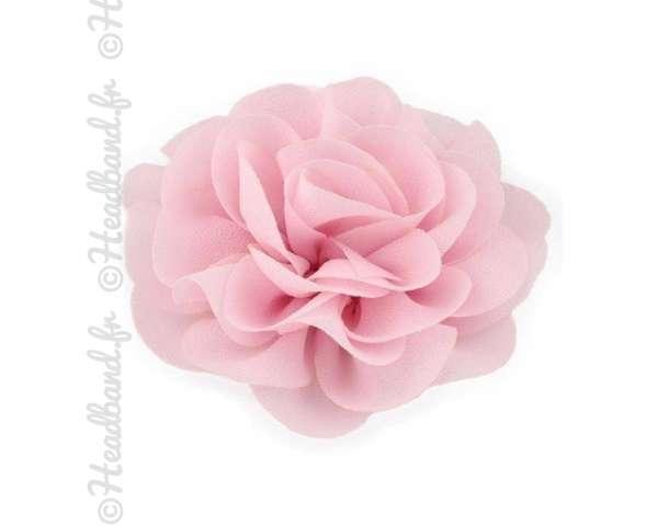 Pince fleur mousseline rose pâle