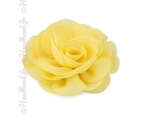 Pince fleur mousseline jaune