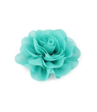 Pince fleur mousseline vert d'eau