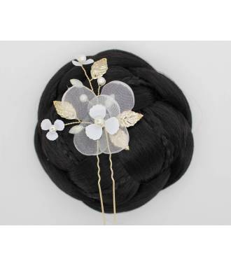 Pique attache fleur tissu Ilona