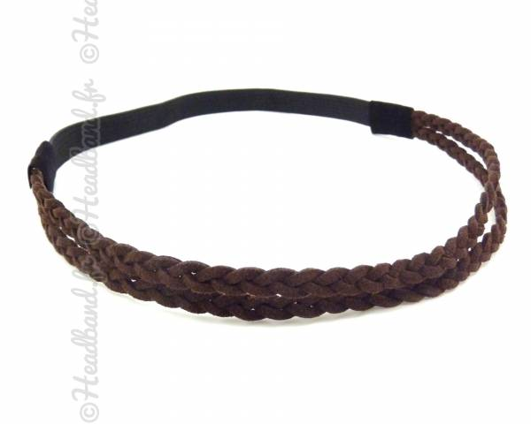 Headband daim marron
