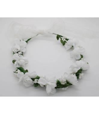 Couronne de fleurs végétale blanche