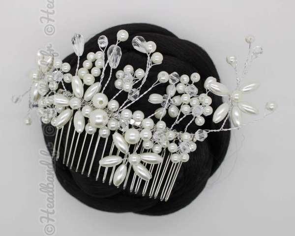 Peigne en perles nacrée Anastasia