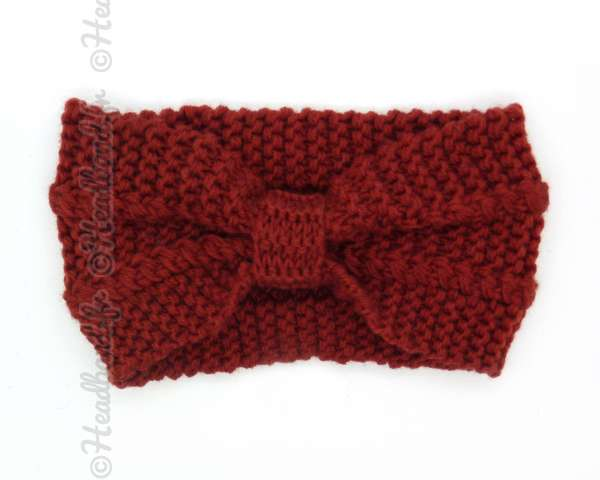 Bandeau noeud maille rouge