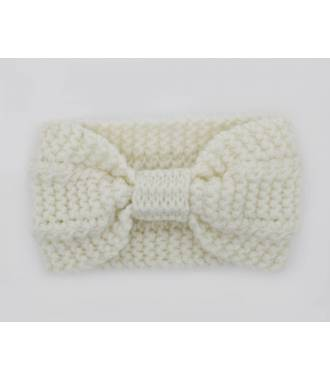 Bandeau noeud maille blanc