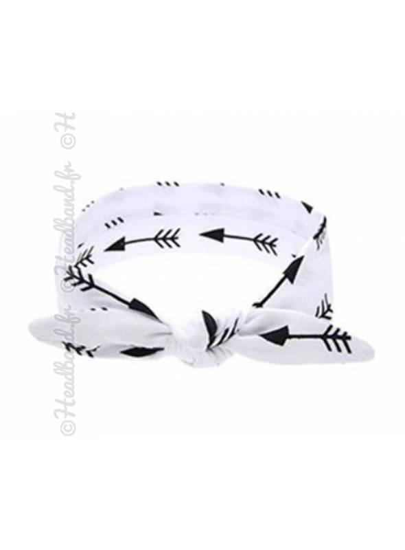 Bandeau motifs flèches blanc