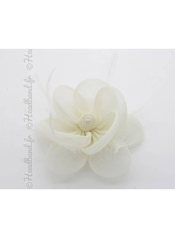 Bibi tulle fleur ivoire