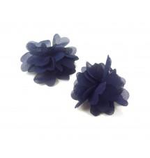 Lot de barrettes fleur bleues 2