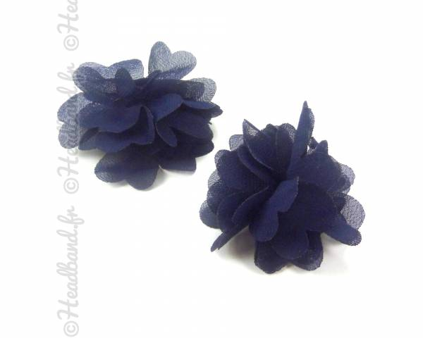 Barrettes fleurs bleues