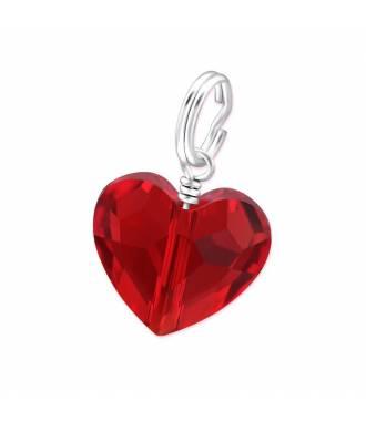 Charms Swarovski cristal coeur rouge